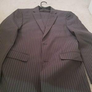Men's suit and jacket - grey pin stripe